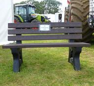 Agri.Cycle's recycled plastic Eclipse Bench at Moreton Show 2012