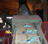 Shredding spray cans at the purpose built Agri.cycle site in Lincolnshire